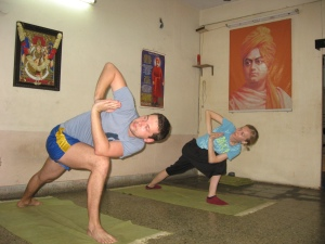 yoga class students from Russia